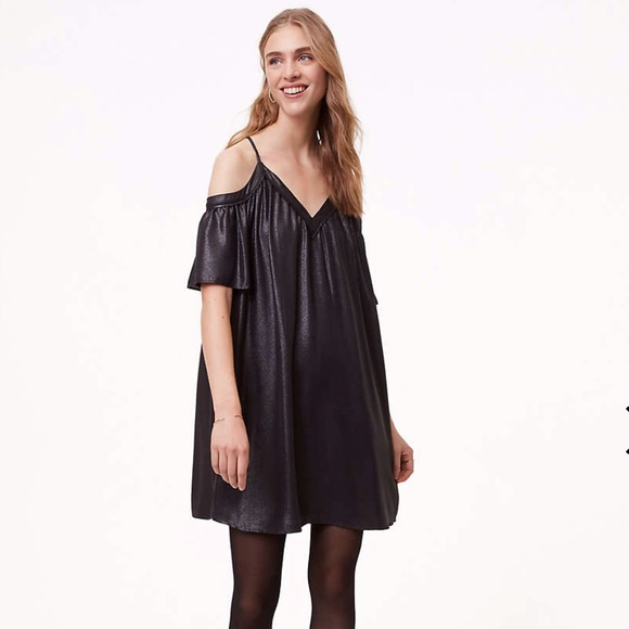 0a11f9b3430 LOFT Black Shimmer Dress